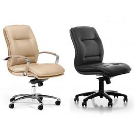 d-5 03 klassischer Leder-Bürostuhl, Konferenzstuhl mit und ohne Armauflagen erhältlich
