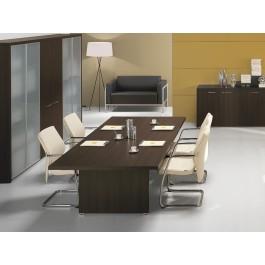 DELTA EVO 01 Konferenztisch, Meetingtisch, in Wenge,