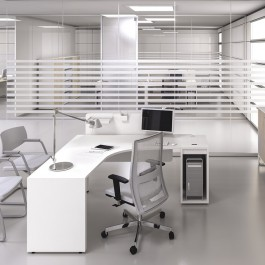 LOGIC 01 Büro Winkelschreibtisch, modernes Design, Stauraum, PC Fach