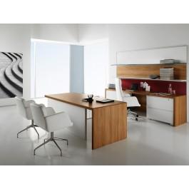 Manatta 01 Chef-Shreibtisch, Nussbaum