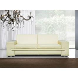 s-12  01  Ledersofa, moderne Design Couch, 3 Sitzer in Beige