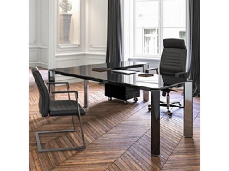 exklusive designer b rom bel glas chefschreibtisch hochwertig und preiswertes programm iulio hg. Black Bedroom Furniture Sets. Home Design Ideas