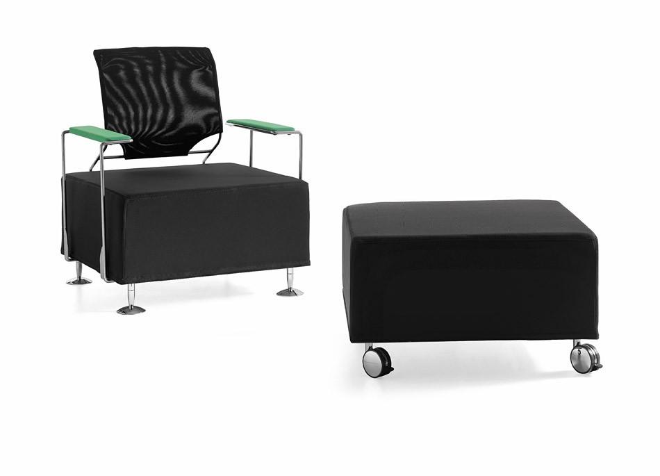 T 7 komfortables design wartesessel mit netzr cken sofa for Sessel wartebereich