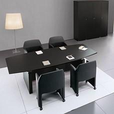"""Konferenztisch, Meeting, Chefschreibtisch, mit einziartiger Tischplattenaufnahme in Wenge und Aluminium - """"ABC """""""