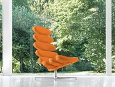 AIRONE-Relax  exklusiver Relax-Sessel, komplett Leder in Handarbeit bezogen, modernes Design