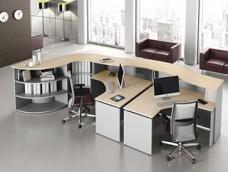 ASK Büroschreibtisch, Empfang, Tresen, Rezeption mit viel Stauraum und Ablagen, Raumteiler