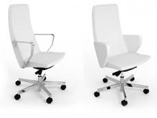 C1 Chefsessel, Designer Bürosessel mit Leder und Armauflagen in Chrom