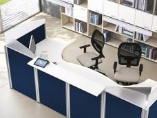 FORMAT Büro Empfang, Tresen mit Schallschutz, Sichtschutz, Vorzimmermöbel