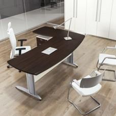 FORMAT Winkel-Schreibtisch mit Metallgestelll in Wenge, preiswert