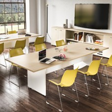 OXI Konferenz-, Besprechungstisch, Pausenraum Tisch, Meetingtisch zweifarbig