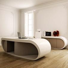 Goggle Desk, hochwertiger Designer Chefschreibtisch, exklusiv einzigartige Form, hochwertig gearbeitet