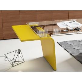 18  Details  Design Chefschreibtisch mit Glastischplatte das Schreibtischgestell in in allen RAL-Farben erhältlich, Larus