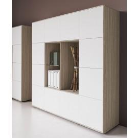 17 Monolith Schrankkombination, moderne Schrankmöbel, eleganter Aktenschrank, Stauraum Lösungen - IULIO