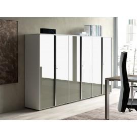 19 Glastüren Schrankkombination, hochwertiger Aktenschrank, clevere Lösungen, preiswert einrichten - IULIO
