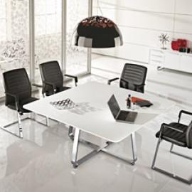 Seventies Design Meeting- Besprechungs-Tisch, eckig oder rund mit Chromgestell erhältlich