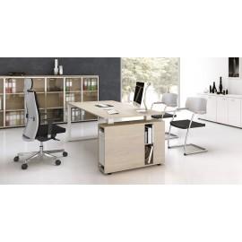5th-ELEMENT 03 Designer Manager Büro-Schreibtisch, Teamleiter-Arbeitsplatz, Holzfarbe Ahorn