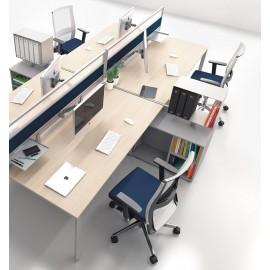 5th-Element 17 Mitarbeiter Büro, Arbeitsplatz Schreibtische, platzsparend, innovative Arbeitsplatzgestaltung