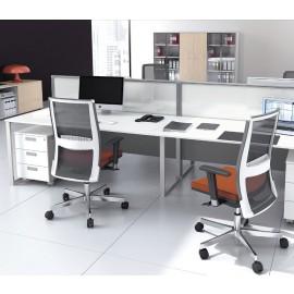 5th-Element 18 Mitarbeiter Büro, Raumteiler, Lärmschutz Sichtschutz, Teamschreibtisch