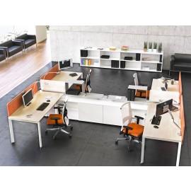 5th-Element 19 Büroschreibtisch, innovatives Design, Mehrplatz-Schreibtisch mit Sichtschutz