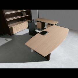 ABC 05 Chefschreibtisch, Designmöbel, Plattenfarbe  helle Eiche