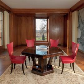 Artú  05 hochwertiger Konferenzstuhl, Esszimmer-Bestuhlung in Leder
