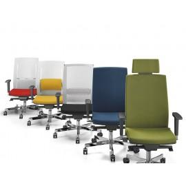 c-2 04 Design Chefsessel, Bürostuhl, Drehstuhl mit niedrige Lehne