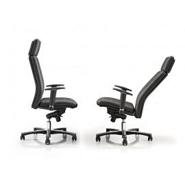 c-3 02 Chefstuhl mit T-Armlehnen, Chefsessel, hochwertiger Designer Drehstuhl