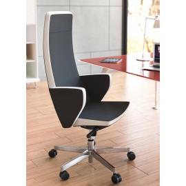 c-1 03 Design Chefsessel, zweifarbig möglich, Leder, geschlossene Armlehnen