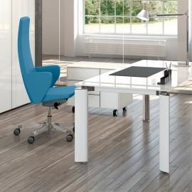 C1 04 bequemer Designer Chefsessel, Leder Bürosessel mit Armlehnen
