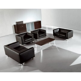 Cubiko  6 Chefzimmer Loungetisch, Wenge, Chrome, waiting room