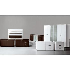 Cubiko 9 Aktenschränke, Büro Sideboard, Büro Hängeschrank, Wenge oder weiss