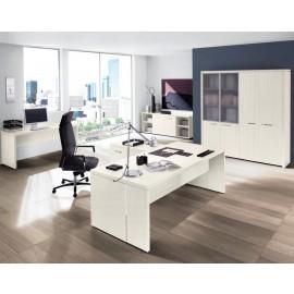 DELTA EVO 03 Chefschreibtisch mit Schrankkombination, geschlossene Tisch Seiten, preiswert und flexibel konfigurierbar