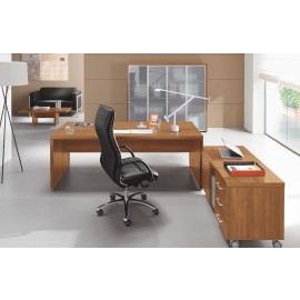 DELTA EVO 05 Chefzimmer komplett, Servicecontainer, Caffetisch-Loungetisch, Ausführung in Wallnuss