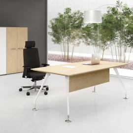 ENOSI-EVO 04 Design Bürormöbe, Chef-Schreibtisch in Ahorn
