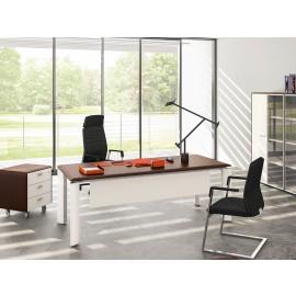 FILL EVO 12 Büro-Schreibtisch, zweifarbig in Wenge und weiss, Chefzimmer, Arztzimmer