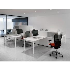 Fly 06 individuelle Arbeitsplätze  Callcenter - Schreibtische mit Stauraum