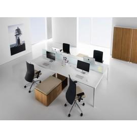 Fly 07 Team-Schreibtische, Callcenter-Büro, individuell anpassbar