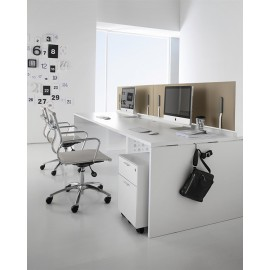 Fly 11 Akustik Screens, Schallschutz Team-Schreibtisch, Büromöbel
