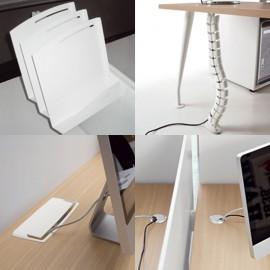 Fly 03 Büro-Schreibtisch organisieren, Schreibtisch Kabeldurchlass