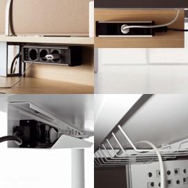 Fly 04 Büro-Schreibtisch Verkabelung, Elektrifizierung, Kabelwanne