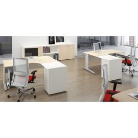 Format 05 ergonomischer Büro Arbeitsplatz, Mitarbeiter Schreibtisch, zweifarbiges Design
