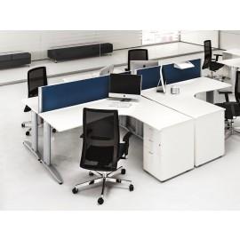 Format 14 Team Winkelschreibtisch, Büromöbel, preiswert und schnell lieferbar