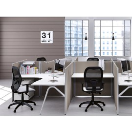 Format 20 Callcenter Team-Schreibtisch, Büromöbel kompakt