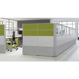 Format 05 Büro Raumteiler, Callcenter Büro-Schreibtisch, Trennwand und Schallschutz