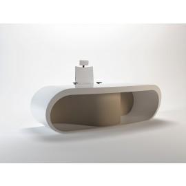 Goggle 04 Design Schreibtisch für Ihr Chefbuero Seitenwangen rund