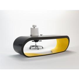 Goggle 13 exklusiver, moderner Schreibtisch schwarz und gelb