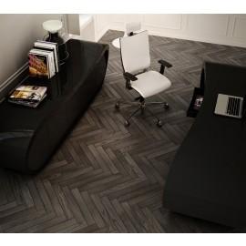 Goggle 17 Büro-Schreibtisch und Sideboard hochglanz schwarz, Chefzimmer