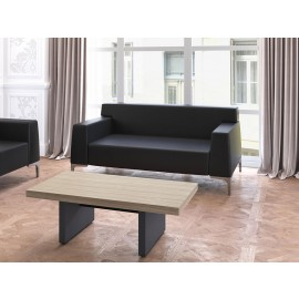 23 Büro Loungebereich Couchtisch, Design Sofa, Ledersessel - JERA