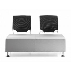 l-7 02 Designer Sofa, Zweisitzer, Wartebereich oder Loungesofa mit und ohne Netzrücken verfügbar