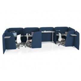 L1 02 Design Smart Office, kompakte Akustik-Schreibtische, Notebooktisch mit Sichtschutz und Schallschutz